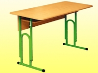 Регулируемый по высоте стол ученический 2-х местный.Г