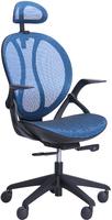 кресло Lotus сетка синяя